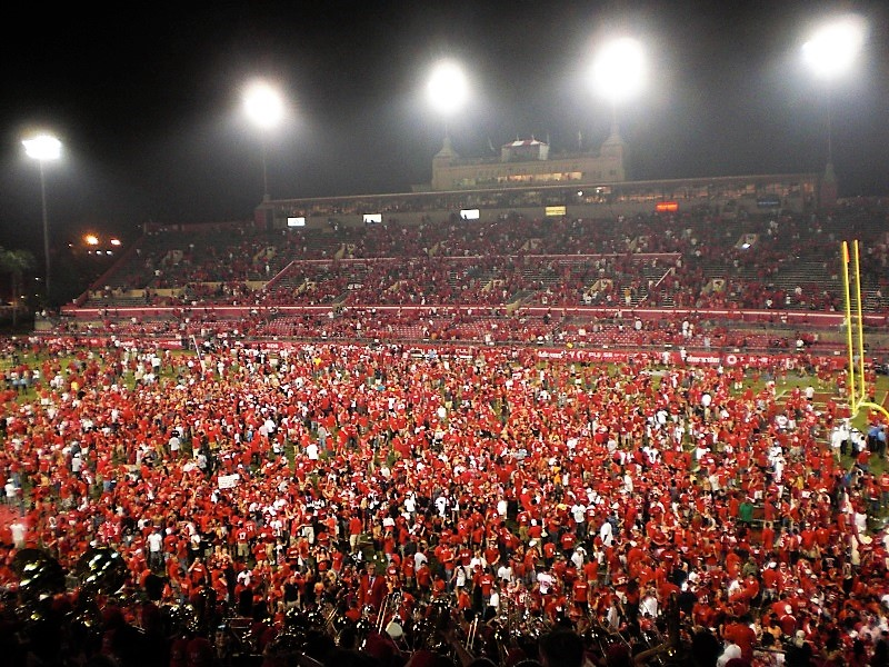 2009 rushing the field against Texas Tech