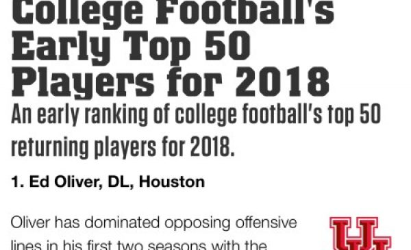 College Football's Early Top 50 Players For 2018