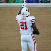 Patrick Carr after his first touchdown.