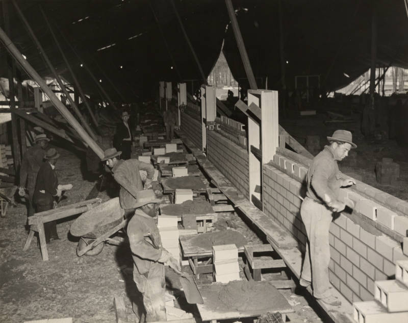 Construction of Cougar Den - Spring 1942