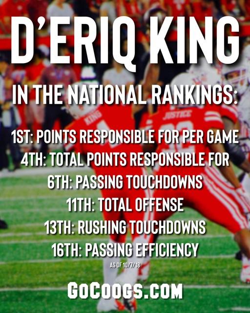 DEriq King Rankings Week 5