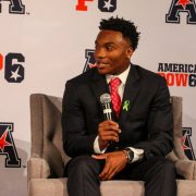 D'Eriq King at Media Days