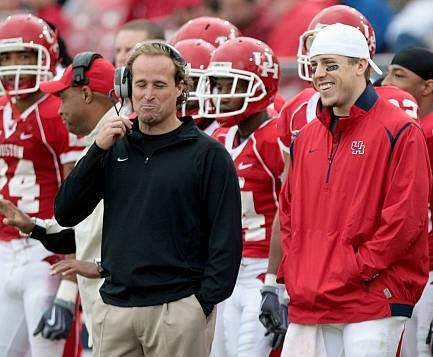 Dana Holgorsen and Case Keenum