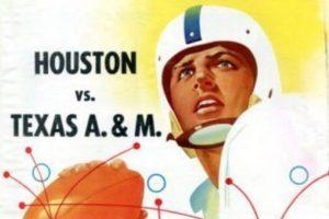 Houston vs A&M program 1954