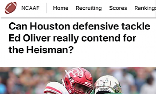 Can Houston defensive tackle Ed Oliver really contend for the Heisman?