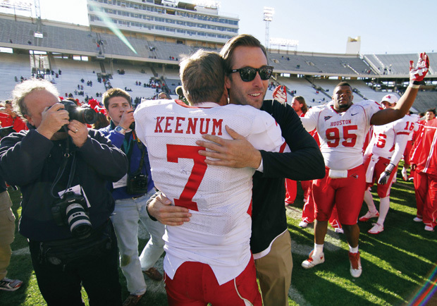 Kliff Kingsbury and Case Keenum