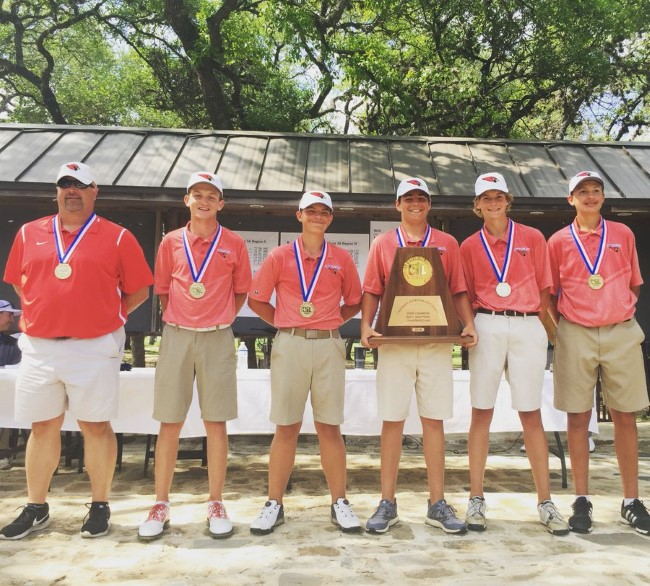 2018 3A State Champs. Nathan Halfmann (far right)