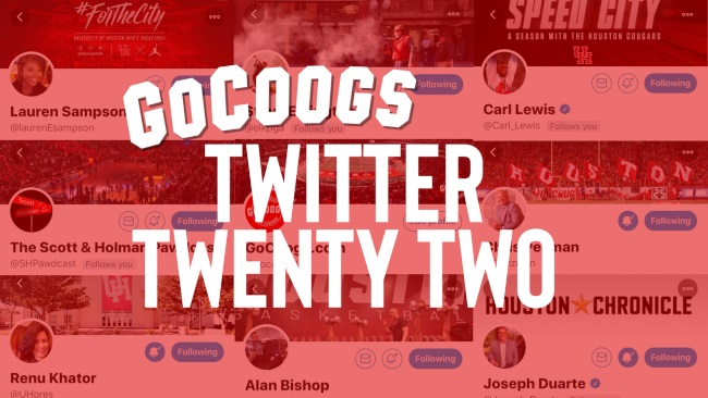 GoCoogs Twitter Twenty Two
