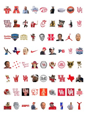 UH Emojis Available With A GoCoogs Subscription